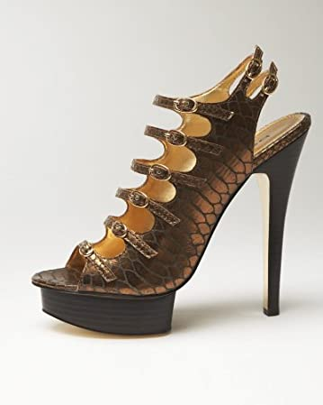 bebe Trish Snake Print Sandal - WEB EXCLUSIVE