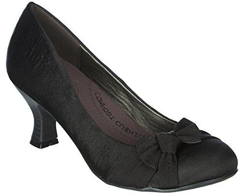 Jellypop Women's Elva Dress Pump, Black Shantung, 9 M US (Mudd Shoes compare prices)