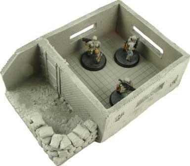 Heavy Weapon Bunk 28mm Sc-Fi Miniature Terrain