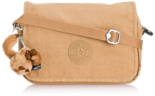 Kipling Womens Delphin N Shoulder Bag K1238908D Sandy Camel
