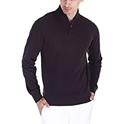 Zobello Men's Sweatshirt (21001B_Charcoal Melange_Medium)
