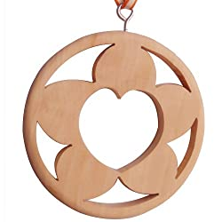 Edelcrafts Wooden Heart in Flower Car Home Office Air Freshener - FREE SHIPPING