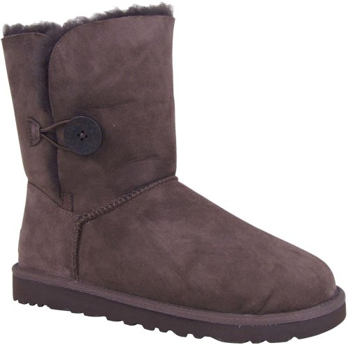 Ugg Women's Bailey Button, Chocolate, Size 10