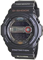 Men Casio GLX150-1 G-Shock Black G-Shock Multi-Function Moon Tide Grpah Plastic