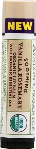 Avalon Organic Botanicals Soothing Organic Lip Balm Vanilla Rosemary 0.15 Oz