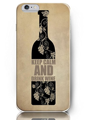 Ouo Inspiration Quotes Iphone 6 Case Keep Calm And Drink Wine Hard Plastic Iphone Case Cover Protection
