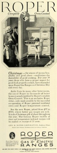 1924 Ad Geo. D. Roper Gas Electric Range Kitchen Ovens 768 Mission Street Ca - Original Print Ad