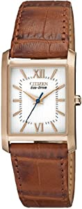 Women Watch Citizen EP5918-06A Ciena Eco-Drive Ciena Stainless Steel Case Leathe