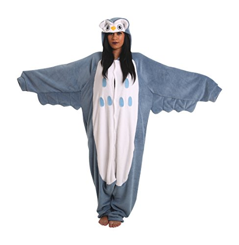 [Animal Adult Onesie Fancy Dress Party Costume Halloween One Piece Pajamas Owl PJ (Medium)] (Bird Costumes Women)