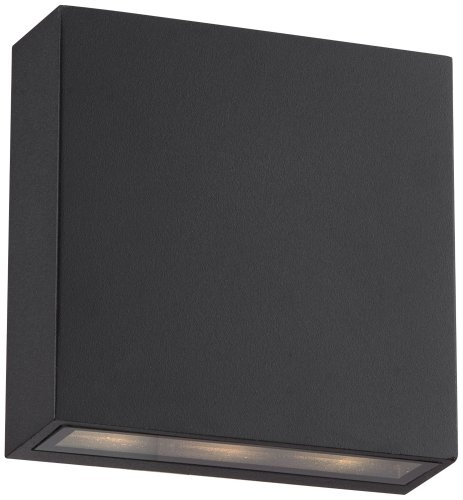 Stanford Black Outdoor Led Wall Up And Downlight