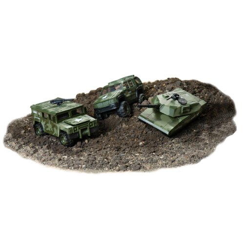 Buy Low Price Toysmith 3 Piece Military Vehicle Set Figure (B004HLZG6Q)