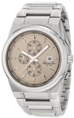 Kenneth Cole Mens Watch KC3908 with Grey Dial and Silver Stainless Steel Strap