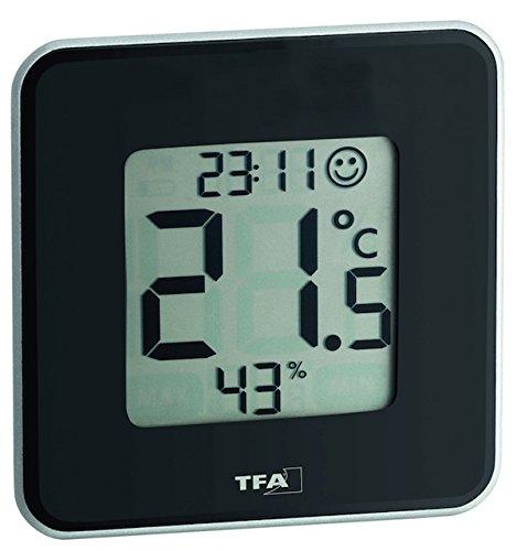 digitales Thermo-Hygrometer Style 30.5021.01, schwarz