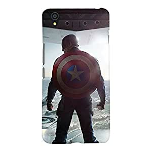 ColourCrust OnePlus X Mobile Phone Back Cover With Captain America - Durable Matte Finish Hard Plastic Slim Case