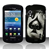 Spade Skull Design Snap On Protector Hard Case for Samsung Stratosphere (SCH-i405) + 4.5 inches Screen/Lens Cleaning Cloth