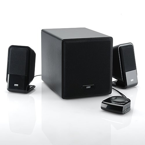 Sanwa direct PC speaker computer speakers 2.1 subwoofer with plenty of bass power 34 W high power speaker mini-plug connection 400-SP005.