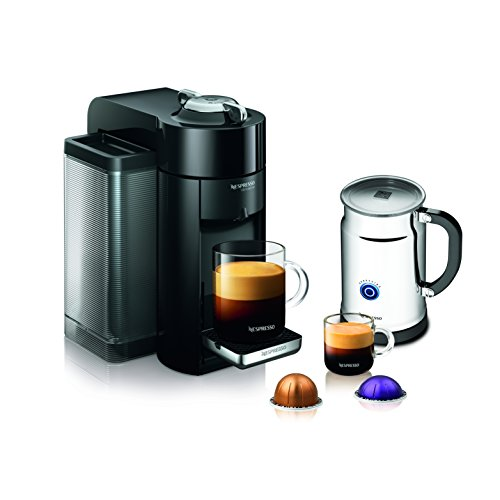 Nespresso A+GCC1-US-BK-NE VertuoLine Evoluo Deluxe Coffee & Espresso Maker with Aeroccino Plus Milk Frother, Black (Nespresso Vertuoline Frother compare prices)
