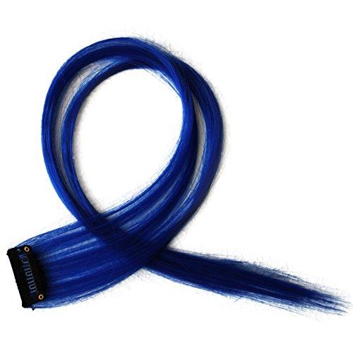 """Bunte Strähnchen 1 x Clip In Extensions 50cm (20"""") Haarverlängerung glatt langhaarHaarteil (18)"""
