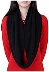 NOVAWO® Women's Men's Super Soft Cashmere Wool Solid Infinity Scarf (in sales promotion)