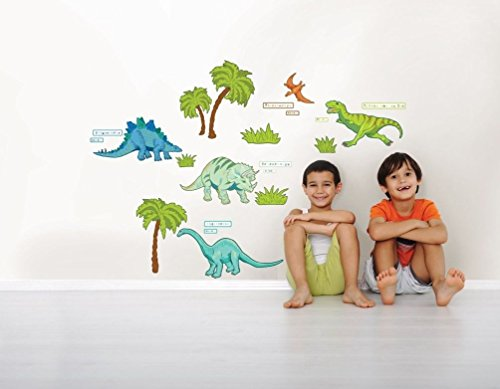 Lunarland DINOSAUR TREES 42 BiG Wall Decals Room Decor T-REX TRICERATOPS Bedroom Stickers