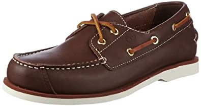 Timberland Boat Shoes FTK Peaks Island 2 Eye Boat Shoe 82703, Unisex - Kinder, Bootsschuhe, Braun (Brown Smooth), EU 31 (US 13)