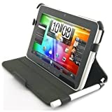 BLUREX Leather Slim folio Case With Built in Stand and stylus holder for HTC Flyer ~ Blurex