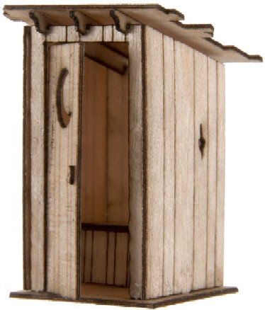 HO Laser Cut KIT Outhouse
