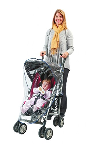 Comfy Baby! Universal Clear Waterproof Rain Cover/Wind Shield for Regular Size Strollers