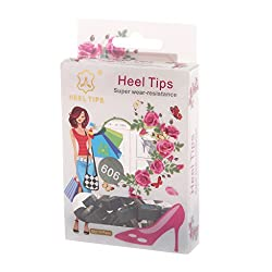 Generic 20pcs Black High Heel Shoes Tips Replacements Repair Stilettos 606