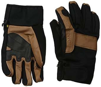 Carhartt Men's Chill Stopper Waterproof Insulated Work Glove, Black/Barley, Medium