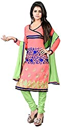 AAINA Women's Cotton Silk Unstitched Dress Material (Pink)
