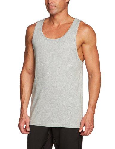 Urban Classics - Jersey Big Tank Top, Sport shirt Uomo, Grigio (H.grey), Medium (Taglia Produttore: Medium)