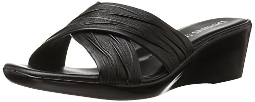 Italian Shoemakers Women's 168m Wedge Sandal, Black, 7 M US (Italian Shoes For Women Wedge compare prices)