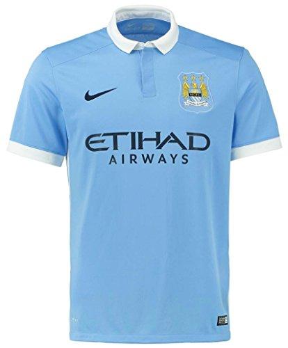 ナイキ マンチェスター・シティFC ホームユニフォーム 2015/16 [プレミアリーグバッジ付き] [16 アグエロ] [サイズ:インポートM] Nike Manchester City FC Home Shirt 2015/16 [Premier League Badge] [16 Kun Aguero] [Size:Import M] [並行輸入品]