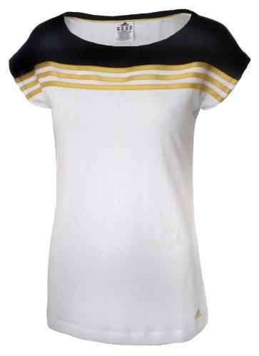 Adidas 3 Stripe Womens Short Sleeve Running Top