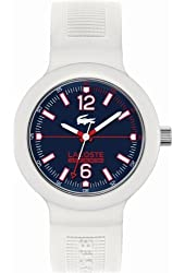 Lacoste 2010702 White Silicone Strap Dark Blue Dial Mens Watch