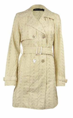 Dana Buchman Womens Cotton Eyelet Trench Jacket Sand 2 [Apparel] [Apparel]