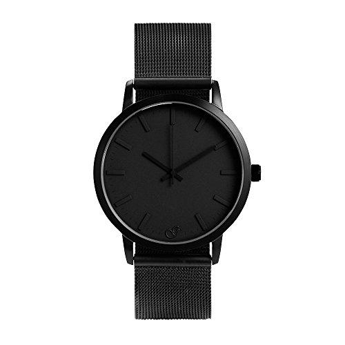 gaxs-watches-jamming-joe-mesh-herren-armbanduhr-schwarz-mit-mesh-edelstahl-armband
