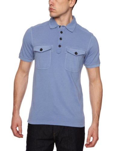 Timberland Cargo Fishing Polo Men's T-Shirt Country Blue Small