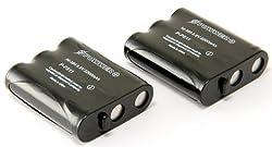 STK's Panasonic P-P511 Phone Battery - Two Pack 2200mAH NI-MH replaces Panasonic HHR-P402, Type 24, Type 30 batteries and ER-P511 cordless phone batteries for KX-TGA270S, KX-TG2740, KX-TG2357, KX-TG5240, KX-TG6500, KX-TGA510M, N4HKGMA00001, KX-TG6502, KX-
