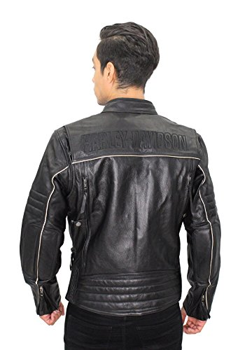 Harley-Davidson Mens Beginnings Reflective Leather 98067-14VM (Large)