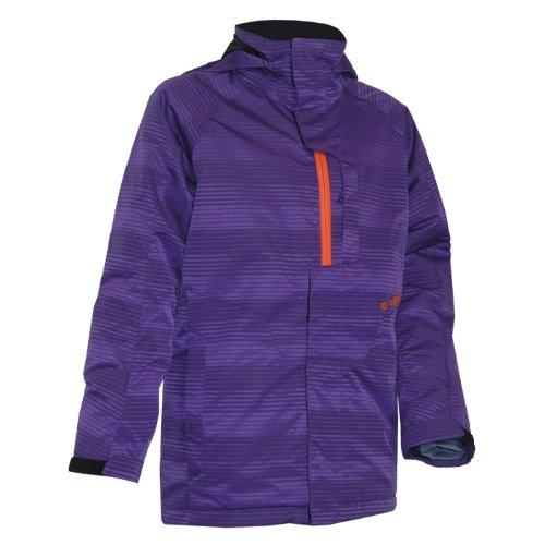 ZIENER ALBATROS KIDS Kinder Skijacke Snowboardjacke dark/purple/stripe online kaufen