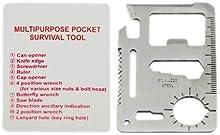 Comprar SODIAL(TM) Acero Inoxidable Herramienta de Supervivencia de Tarjetas de Credito / con Funda - Prepara un poco de seguridad en tu bolsillo