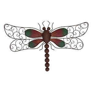 Decorative Metal Dragonfly Garden Wall Art by Gardens2you