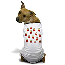 CafePress French Fries Dots Dog T-Shirt - L White from CafePress