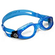 Aqua Sphere Kaiman Small Goggles - Clear Lens - Blue Skirt/Blue Trim