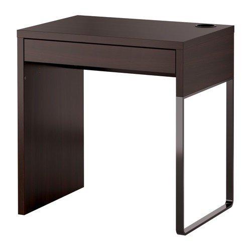 IKEA-MICKE-Schreibtisch-in-schwarzbraun-73x50cm