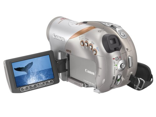 Canon HR10 Ultra Compact High Definition DVD Camcorder (10x Optical Zoom, 2.7