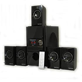 New 5.1 Multimedia Powered Home Theater Surround Sound Speaker System TS512