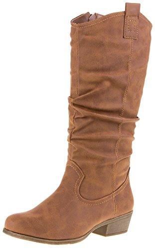 Donna inverno Scarpe stivaletti donna stivali invernali, marrone chiaro, 39